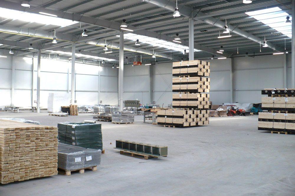 wnętrze obiektu 1 - hala produkcyjna z częścią socjalną, dla HG Poland, Łozienica, woj. zachodniopomorskie