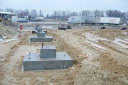 stopy fundamentowe - hala produkcyjna z zapleczem biurowym, dla Korona SA, Wieluń, woj. łódzkie