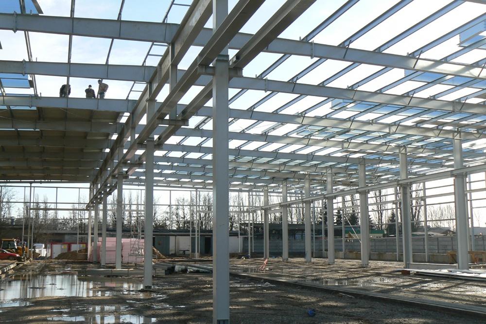 konstrukcja stalowa - hala produkcyjna, dla Feber, Sieradz, woj. łódzkie