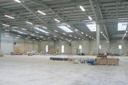 wnętrze hali - hala produkcyjna, dla Filtry Haft, Gorzów Wielkopolski, woj. lubuskie