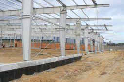 konstrukcja stalowa - hala produkcyjna z zapleczem biurowym, dla Wiefferink, Wykroty, woj. dolnośląskie
