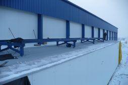 Montaż konstrukcji wsporczej pod dachowe centrale - hala produkcyjna z budynkiem biurowym, dla Futrex, Żdżary