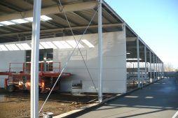 fragment konstrukcji stalowej obiektu - hala produkcyjna, dla Auto-Hak, Słupsk