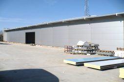 jedna z elewacji bocznych - hala produkcyjna, dla Auto-Hak, Słupsk, woj. pomorskie