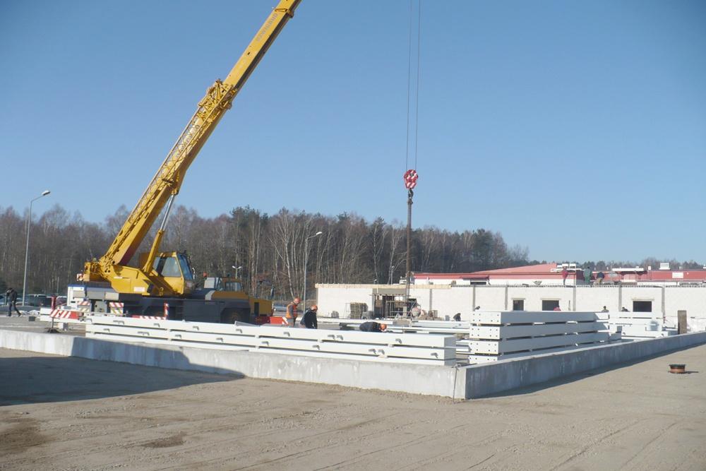 elementy konstrukcji stalowej 3 - hala produkcyjna z częścią biurową, dla Markos, Słupsk, woj. pomorskie