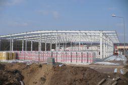 hala w konstrukcji stalowej - hala produkcyjna z częścią biurową, dla Markos, Słupsk, woj. pomorskie