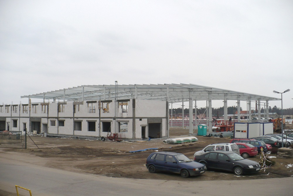 widok ogólny 2 - hala produkcyjna z częścią biurową, dla Markos, Słupsk, woj. pomorskie