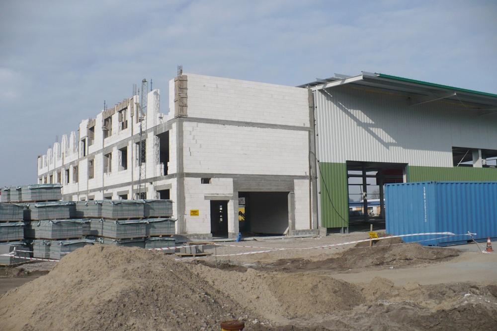 widok ogólny 4 - hala produkcyjna z częścią biurową, dla Markos, Słupsk, woj. pomorskie