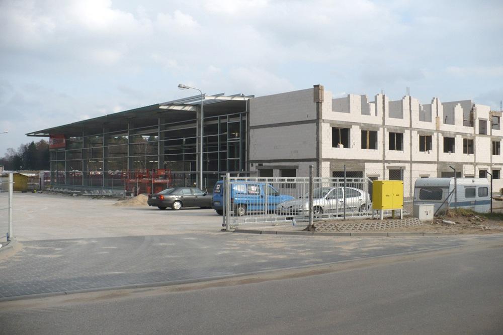 widok ogólny 5 - hala produkcyjna z częścią biurową, dla Markos, Słupsk, woj. pomorskie
