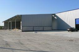 budynek w trakcie budowy - hala produkcyjna z budynkiem biurowym, dla Algontec, Kostrzyn nad Odrą