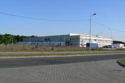 widok ogólny - hala produkcyjna z budynkiem biurowym, dla Algontec, Kostrzyn nad Odrą, woj. lubuskie