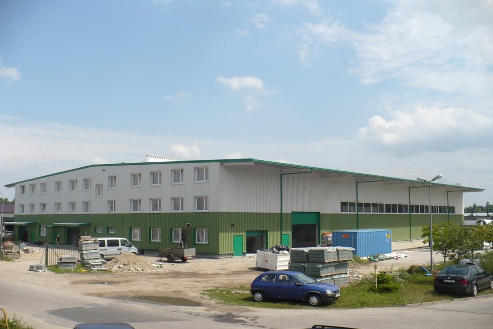 widok ogólny 12 - hala produkcyjna z częścią biurową, dla Markos, Słupsk, woj. pomorskie