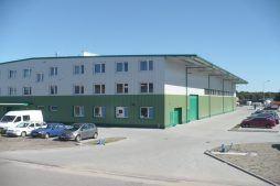 widok ogólny 13 - hala produkcyjna z częścią biurową, dla Markos, Słupsk, woj. pomorskie