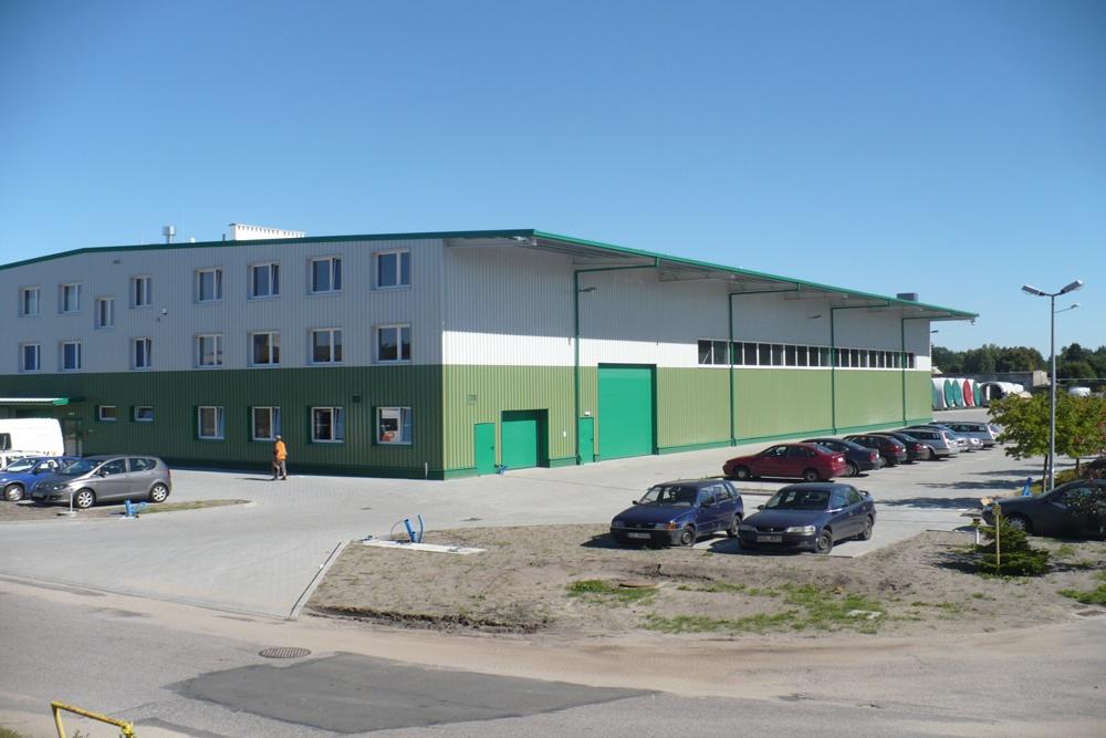 widok ogólny 15 - hala produkcyjna z częścią biurową, dla Markos, Słupsk, woj. pomorskie
