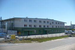 widok ogólny 17 - hala produkcyjna z częścią biurową, dla Markos, Słupsk, woj. pomorskie