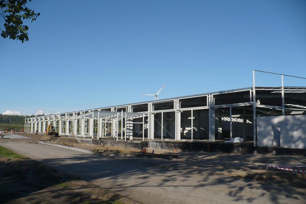konstrukcja stalowa hali 1 - hala produkcyjna z częścią biurową, dla Leann Stańczyk, Słupsk, woj. pomorskie