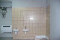 pomieszczenie sanitarne - hala produkcyjna z budynkiem biurowym, dla Meblomaster, Węgrów, woj. mazowieckie