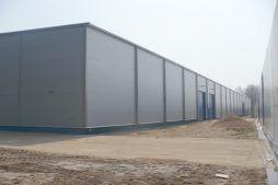 ściana boczna 6 - hala produkcyjna z budynkiem biurowym, dla Meblomaster, Węgrów, woj. mazowieckie