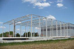 konstrukcja stalowa 5 - hala magazynowa, dla Szpec-Bud, Kobylnica, woj. pomorskie