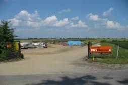 brama wjazdowa na teren budowy - hala produkcyjna z częścią biurową, dla Pritip, Puławy, woj. lubelskie