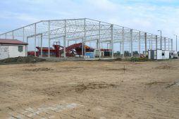 widok z oddali na konstrukcję stalową - zakład utylizacji odpadów, dla Wexpool, Dąbrówka Wielkopolska