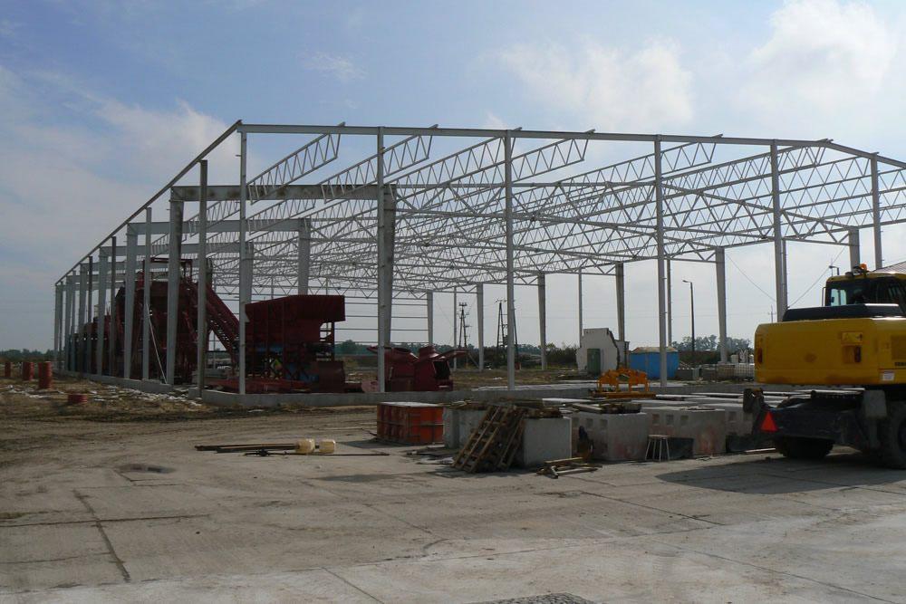 konstrukcja stalowa - zakład utylizacji odpadów, dla Wexpool, Dąbrówka Wielkopolska, woj. lubuskie
