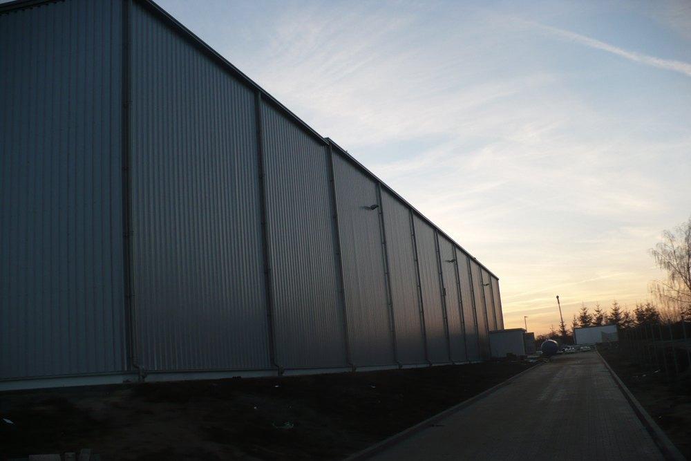 ściana boczna 2 - hala produkcyjna z częścią biurową, dla Pritip, Puławy, woj. lubelskie