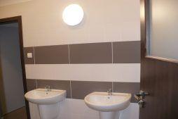 pomieszczenie sanitarne - hala produkcyjna z częścią biurową, dla Pritip, Puławy, woj. lubelskie