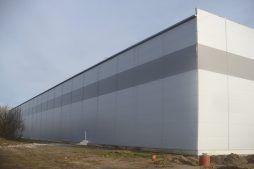 fasada zewnętrzna - hala magazynowa, dla Szpec-Bud, Kobylnica, woj. pomorskie