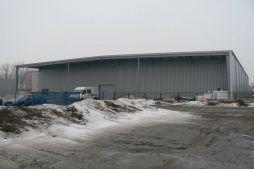 ściana frontowa - hala produkcyjna, dla Cornette, Sieradz, woj. łódzkie