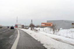 baner reklamowy - hala produkcyjna z budynkiem biurowym, dla Blyweert Aluminium, Czosnów, woj. mazowieckie