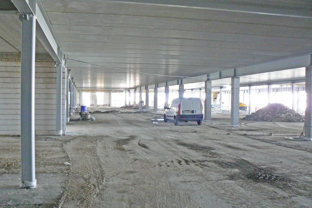 prace budowlane - hala handlowa, dla EACC Investments, Wólka Kosowska, woj. mazowieckie
