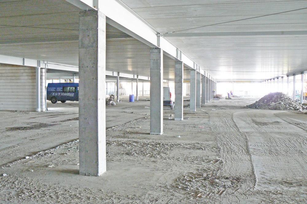 prace budowlane 1 - hala handlowa, dla EACC Investments, Wólka Kosowska, woj. mazowieckie