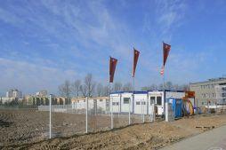 widok ogólny - hala produkcyjna z budynkiem biurowym, dla El-press, Lublin, woj. lubelskie