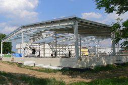 konstrukcja stalowa - hala produkcyjna z budynkiem biurowym, dla El-press, Lublin, woj. lubelskie