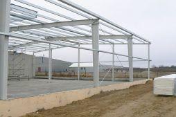 konstrukcja stalowa 1 - hala magazynowa, dla Biomaxima, Lublin, woj. lubelskie