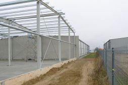 obiekt w trakcie budowy - hala magazynowa, dla Biomaxima, Lublin, woj. lubelskie