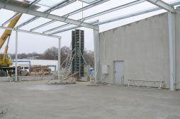 wnętrze w trakcie budowy - hala magazynowa, dla Biomaxima, Lublin, woj. lubelskie