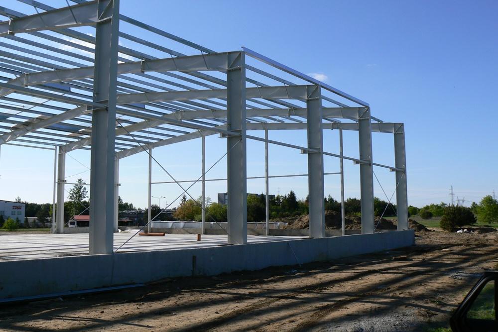 widok konstrukcji stalowej - hala produkcyjna, dla Ferrum-Profil System, Częstochowa