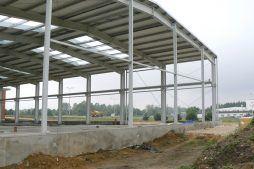 widok konstrukcji stalowej - hala produkcyjna, dla Ferrum-Profil System, Częstochowa, woj. śląskie