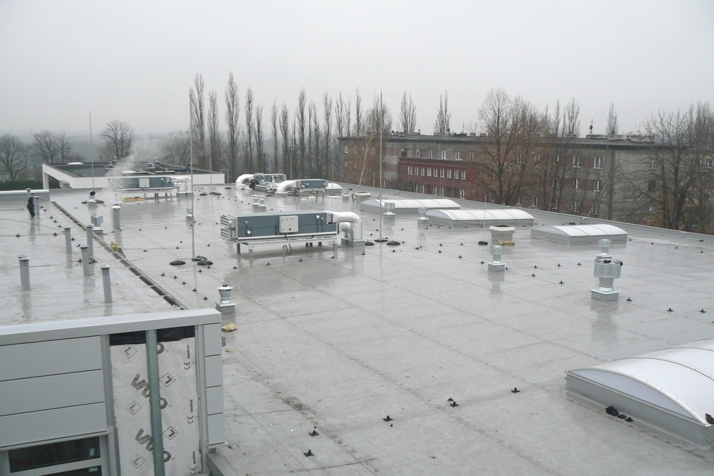zadaszenie obiektu - hala produkcyjno-magazynowa z budynkiem biurowym, dla Viva Plus, Bytom, woj. śląskie