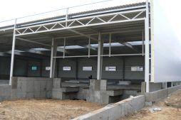fragment konstrukcji stalowej budynku 1 - hala magazynowa, dla Arma Bauteile, Lubliniec, woj. śląskie