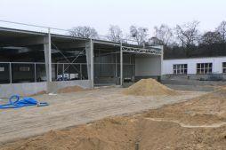 fragment konstrukcji stalowej budynku - hala magazynowa, dla Arma Bauteile, Lubliniec, woj. śląskie
