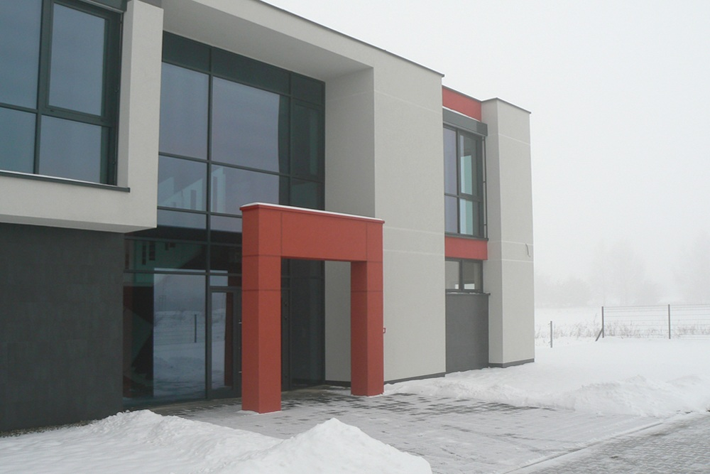 wejście do budynku - hala produkcyjna, dla Ferrum-Profil System, Częstochowa, woj. śląskie