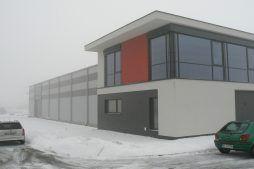 fragment budynku - hala produkcyjna, dla Ferrum-Profil System, Częstochowa, woj. śląskie