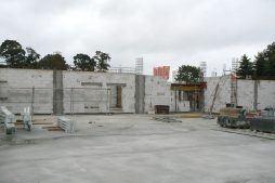 wznoszenie ścian budynku biurowego 2 - hala magazynowa z budynkiem biurowym, dla Tech-Met, Kolonia Sokolniki