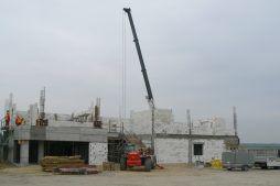 wznoszenie ścian budynku biurowego 3 - hala magazynowa z budynkiem biurowym, dla Tech-Met, Kolonia Sokolniki
