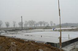 wykonane fundamenty i prace ziemne - hala magazynowa z budynkiem biurowym, dla Agrarada, Domaniów