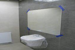 prace wykończeniowe w toaletach - hala magazynowa z budynkiem biurowym, dla Tech-Met, Kolonia Sokolniki