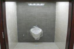 prace wykończeniowe w toaletach 1 - hala magazynowa z budynkiem biurowym, dla Tech-Met, Kolonia Sokolniki